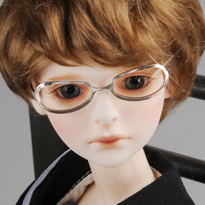 MSD - Shape Steel Lensless Frames Glasses (Silver)