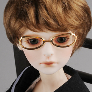 MSD - Shape Steel Lensless Frames Glasses (Gold)