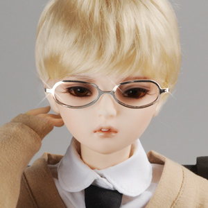 SD - Shape Steel Lensless Frames Glasses (Silver)
