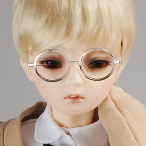 SD - Round Steel Lensless Frames Glasses (Silver)