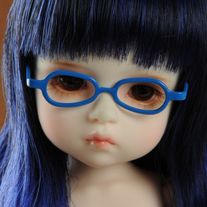 USD - Shape Steel Lensless Frames Glasses Glasses (Blue)