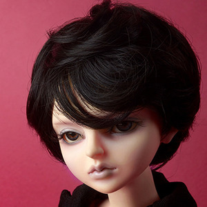 "[7-8""] Macaroon Short Cut Wig (Black)"