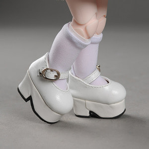 [45mm] USD.Dear Doll Size - Platform Basic Girl Shoes (White)
