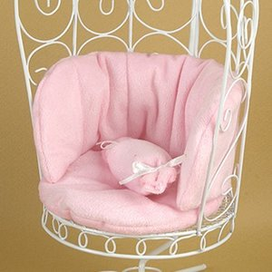 1/6 Scale Cushion For Bird Cage Style Iron Chair (쿠션 Pink)
