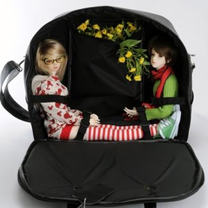SD - Double BJD Carrier Bag (Solid Black)