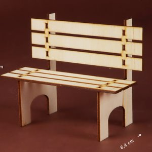 Bebe Doll Size - Mini Wood Bench DIY (조립 나무벤치)