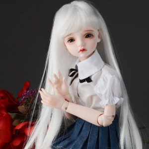 "[7-8""] (선주문) Again Free Will Wig (White)"