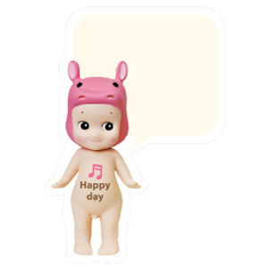 Sonny Angel Speech bubble card-Hippo